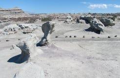 Rock formations Ischigualasto, Valle de la Luna Royalty Free Stock Image