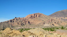 Rock formations landscape in Tilcara, Argentina Stock Photo