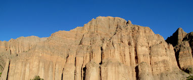 Rock formations landscape in Tilcara, Argentina Royalty Free Stock Images