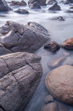 Rock formations long exposure.  Royalty Free Stock Photography