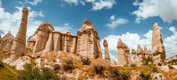 Rock formations in Love Valley of Cappadocia Stock Image