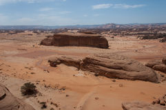 Rock formations in Madaîn Saleh, Saudi Arabia Royalty Free Stock Photos