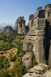 Rock formations in Meteora Stock Image