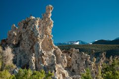 Rock formations on Mono Lake Royalty Free Stock Images