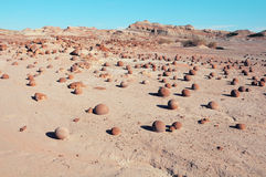 Rock formations in Moon valley Stock Photo