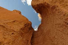 Rock formations, Natural Bridge Canyon, Death Valley National Park stock photos