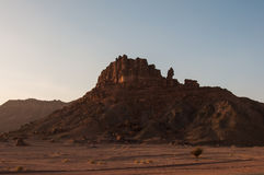 Rock formations near Al-Ula in the deserts of Saudi Arabia Royalty Free Stock Images
