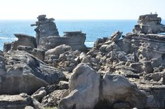 Rock formations near the sea Royalty Free Stock Photography
