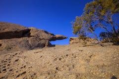 Rock formations near Walvis Bay, Namibia Stock Photo