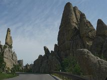 Rock formations at Needle\'s Highway, South Dakota. Breathtaking rock formations and granite rock towers along Needles Highway in South Dakota stock images