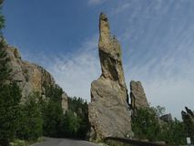 Rock formations at Needle\'s Highway, South Dakota. Close up of incredible rock formations along Needles Highway in South Dakota stock photography