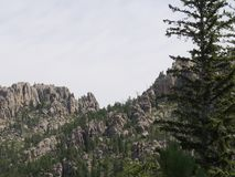 Rock formations at Needles Highway, Custer State Park,  South Dakota. Rock formations and granite spires along the road at Needles Highway in Custer State Park royalty free stock image