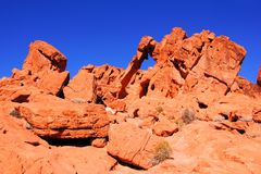 Rock formations of the Nevada desert Stock Photo