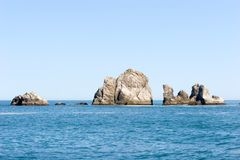 Rock formations in the ocean Royalty Free Stock Images