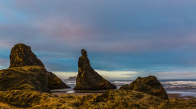 Rock Formations at the Ocean Stock Photos