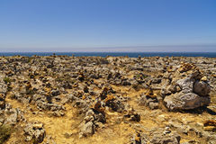 Rock formations. On the ocean, Portimao Portugal Stock Photo