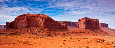 Rock Formations Panorama. Rock formations on a cloudy day in Monument Valley, Utah Stock Photography