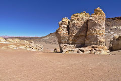 Rock formations. Peculiar rock formations in the Atacama desert Stock Photo