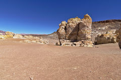 Rock formations. Peculiar rock formations in the Atacama desert Royalty Free Stock Image