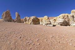 Rock formations. Peculiar rock formations in the Atacama desert Stock Photos