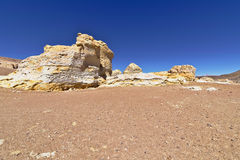 Rock formations. Peculiar rock formations in the Atacama desert Royalty Free Stock Photography