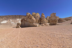 Rock formations. Peculiar rock formations in the Atacama desert Stock Images