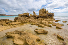 Rock formations Victoria Australia royalty free stock photography