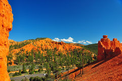 Rock formations in red canyon park in Utah. Royalty Free Stock Images