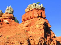 Rock formations in Red Canyon State Park in Utah Royalty Free Stock Photography