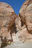 Rock Formations in Red Rock Canyon. Nevada Stock Image