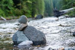 Rock Formations in a river stock photography