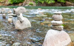 Rock Formations in a river royalty free stock photos