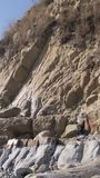 Rock formations in Russia royalty free stock photography