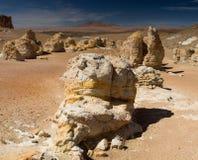Rock formations at the Salar de Tara Royalty Free Stock Photography