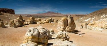Rock formations at the Salar de Tara Royalty Free Stock Photos
