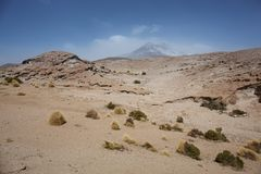 rock formations, Salar de Tara Natural Reserve, San Pedro de Atacama, Chile stock photos
