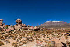 Rock formations at Salar de Uyuni, Bolivia Royalty Free Stock Images
