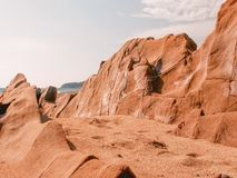 Rock Formations on the sand Stock Photography