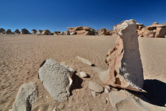 Rock formations. Siloli desert. Potosí Department. Bolivia Stock Image
