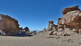Rock formations. Siloli desert. Potosí Department. Bolivia Stock Photos