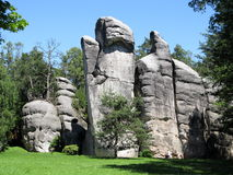 Rock formations Skalne Mesto Royalty Free Stock Photo