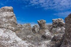 Rock formations on the Swedish coastline Royalty Free Stock Photo