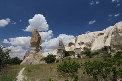 Rock Formations in Swords Valley, Cappadocia Royalty Free Stock Images