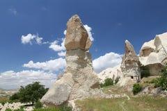 Rock Formations in Swords Valley, Cappadocia Royalty Free Stock Photo