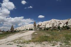 Rock Formations in Swords Valley, Cappadocia Royalty Free Stock Photography