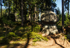 Rock Formations at Table Mountains National Park in Poland Royalty Free Stock Photo