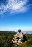 Rock Formations at Table Mountains National Park in Poland Royalty Free Stock Photos