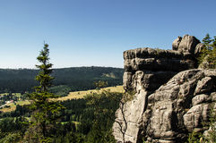 Rock Formations at Table Mountains National Park in Poland Royalty Free Stock Image
