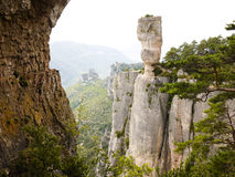 Rock formations in Tarn, close to Peyreleau, France Stock Images