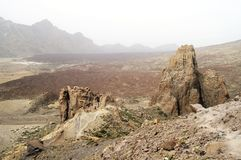 Rock formations at Teide National Park Royalty Free Stock Image